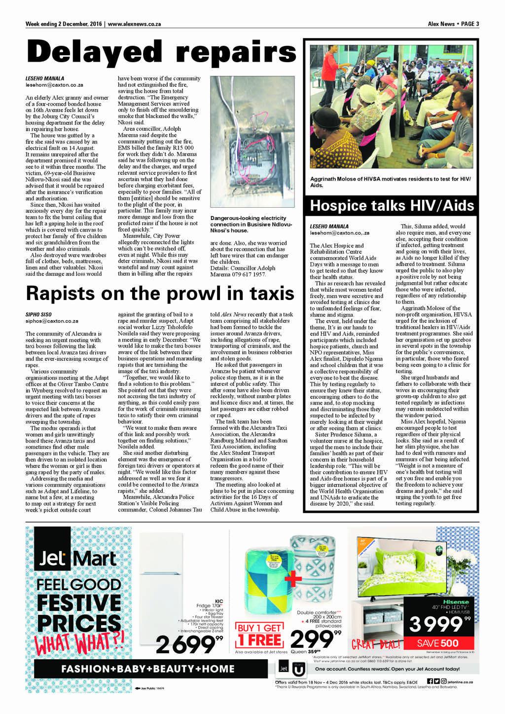Alex News 2 December 2016